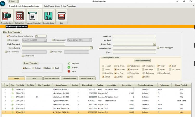 aplikasii pembukuan dan penjualan online