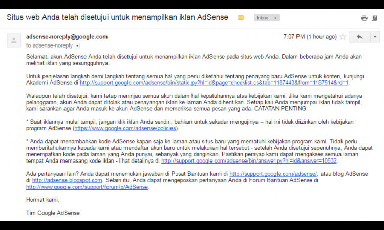 Adsense Non Host Full Approve