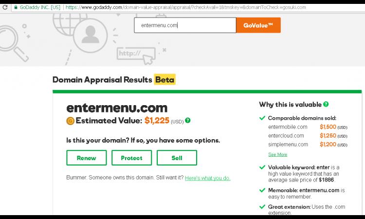 . (LELANG) Domain Premium : www.entemenu.com (siapa cepat dia dapat)