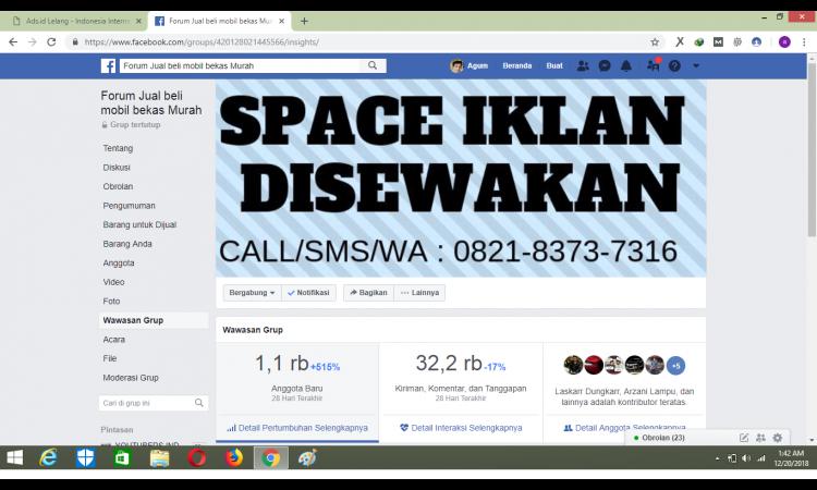 ,(jual)Grup Facebook Member 140rb harga nego