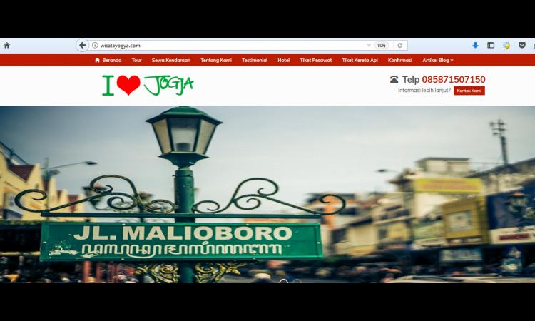 Website wisata jogja wisatayogya.com